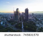 panoramic aerial view of the... | Shutterstock . vector #745831570