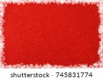 brilliant red background. new... | Shutterstock . vector #745831774