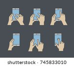 touch screen gesture icon for... | Shutterstock .eps vector #745833010