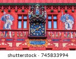 basel  switzerland. detail of...   Shutterstock . vector #745833994