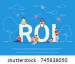 roi vector illustration of... | Shutterstock . vector #745838050