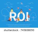 roi vector illustration of...   Shutterstock . vector #745838050