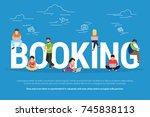 online booking concept...   Shutterstock . vector #745838113