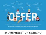 offer concept vector... | Shutterstock . vector #745838140