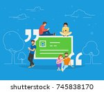 testimonials quote symbol... | Shutterstock . vector #745838170