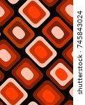 seamless vector geometric ... | Shutterstock .eps vector #745843024