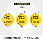 yellow linear infographic... | Shutterstock .eps vector #745847638
