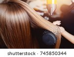 close up of hair dryer for hair ...   Shutterstock . vector #745850344