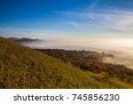 misty morning in autumn central ... | Shutterstock . vector #745856230