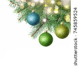 merry christmas and happy new... | Shutterstock . vector #745859524