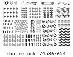hand drawn different elements.... | Shutterstock .eps vector #745867654
