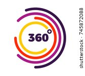 360 degrees view related vector ... | Shutterstock .eps vector #745872088