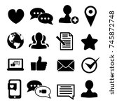 media and communication icons... | Shutterstock . vector #745872748