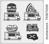 food truck street festival... | Shutterstock .eps vector #745874200