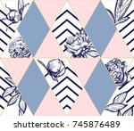 stylish trendy geometric... | Shutterstock .eps vector #745876489