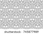 linear seamless pattern | Shutterstock .eps vector #745877989