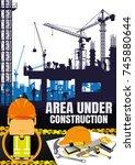 construction silhouettes vector ...   Shutterstock .eps vector #745880644