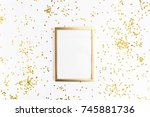 photo frame mock up with space... | Shutterstock . vector #745881736