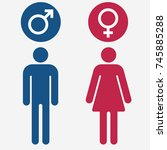male and female gender symbol... | Shutterstock .eps vector #745885288