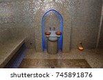 turkish bath or hamam at spa... | Shutterstock . vector #745891876