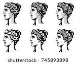 vector black and white graphic... | Shutterstock .eps vector #745893898