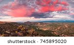 Small photo of Glorious View Of Rio Grande, Sangre De Cristo And Black Mesa From White Rock Overlook - New Mexico