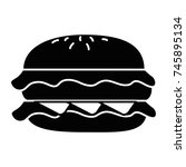 delicious burger isolated icon | Shutterstock .eps vector #745895134