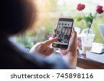 chiang mai  thailand   oct 23 ... | Shutterstock . vector #745898116