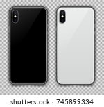 realistic black and white slim... | Shutterstock .eps vector #745899334