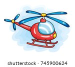 red helicopter   Shutterstock .eps vector #745900624