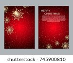 christmas and new year two... | Shutterstock .eps vector #745900810