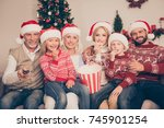 multi generation  happiness ... | Shutterstock . vector #745901254