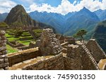 architecture of houses in machu ... | Shutterstock . vector #745901350