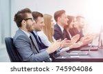 photo of happy business people... | Shutterstock . vector #745904086