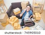 start up small business... | Shutterstock . vector #745905010