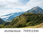 road through the andes. the... | Shutterstock . vector #745911544