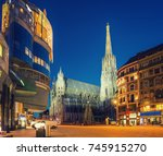 st. stephan cathedral and... | Shutterstock . vector #745915270