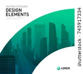 design element for corporate... | Shutterstock .eps vector #745917334