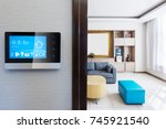 intelligent touch screen with... | Shutterstock . vector #745921540
