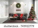 Christmas Living Room With A...