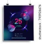 25 years anniversary logo with... | Shutterstock .eps vector #745926676