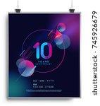 10 years anniversary logo with...   Shutterstock .eps vector #745926679