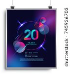 20 years anniversary logo with... | Shutterstock .eps vector #745926703