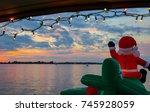 Festive Inflatable Santa Flies...