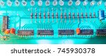 Close Up Of Circuit Board With...