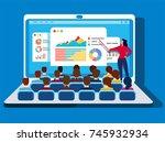 online training   Shutterstock .eps vector #745932934
