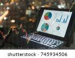 investment portfolio on screen... | Shutterstock . vector #745934506