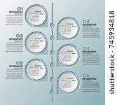 vector abstract 3d paper... | Shutterstock .eps vector #745934818