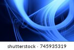 abstract curved 3d lines.... | Shutterstock . vector #745935319