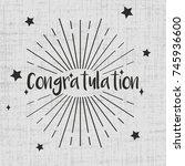 congratulation greeting card...   Shutterstock .eps vector #745936600
